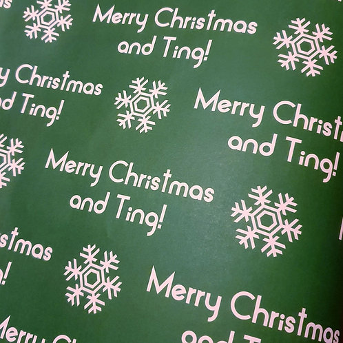 MERRY CHRISTMAS AND TING WRAP