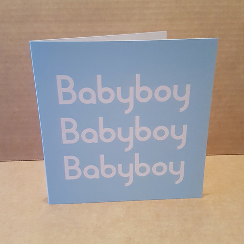 BABYBOY CARD