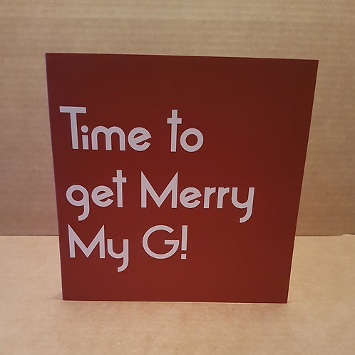 MERRY MY G CARD