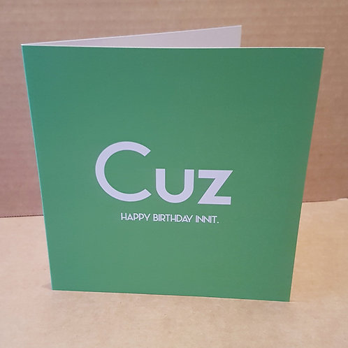 CUZ HB INNIT CARD