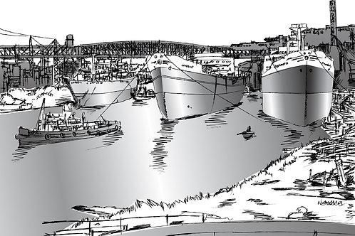THREE SHIPS 1957