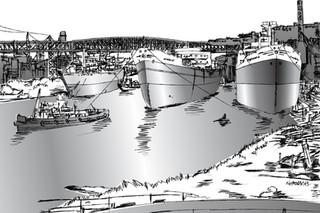 1 THREE SHIPS 1957