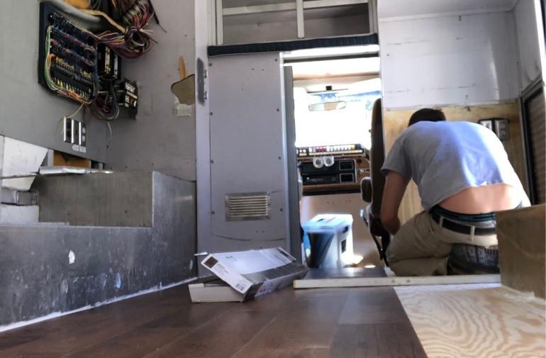 Ambulance. New Flooring. Cannon Cooley.