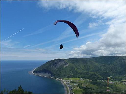 Parapente tandem, Mont St-Pierre en Gaspésie