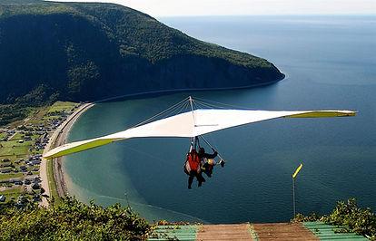 Deltaplane tandem Mont St-Pierre, Haute Gaspésie