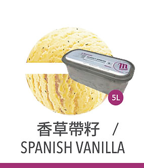 梅諾卡 - 5公升冰淇淋 - 香草帶籽