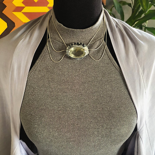 HONORABLE ~ GREEN RUTILATED QUARTZ NECKLACE