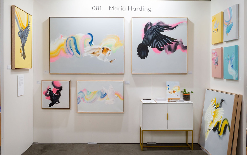 Maria Harding's stand at The Other Art Fair Sydney