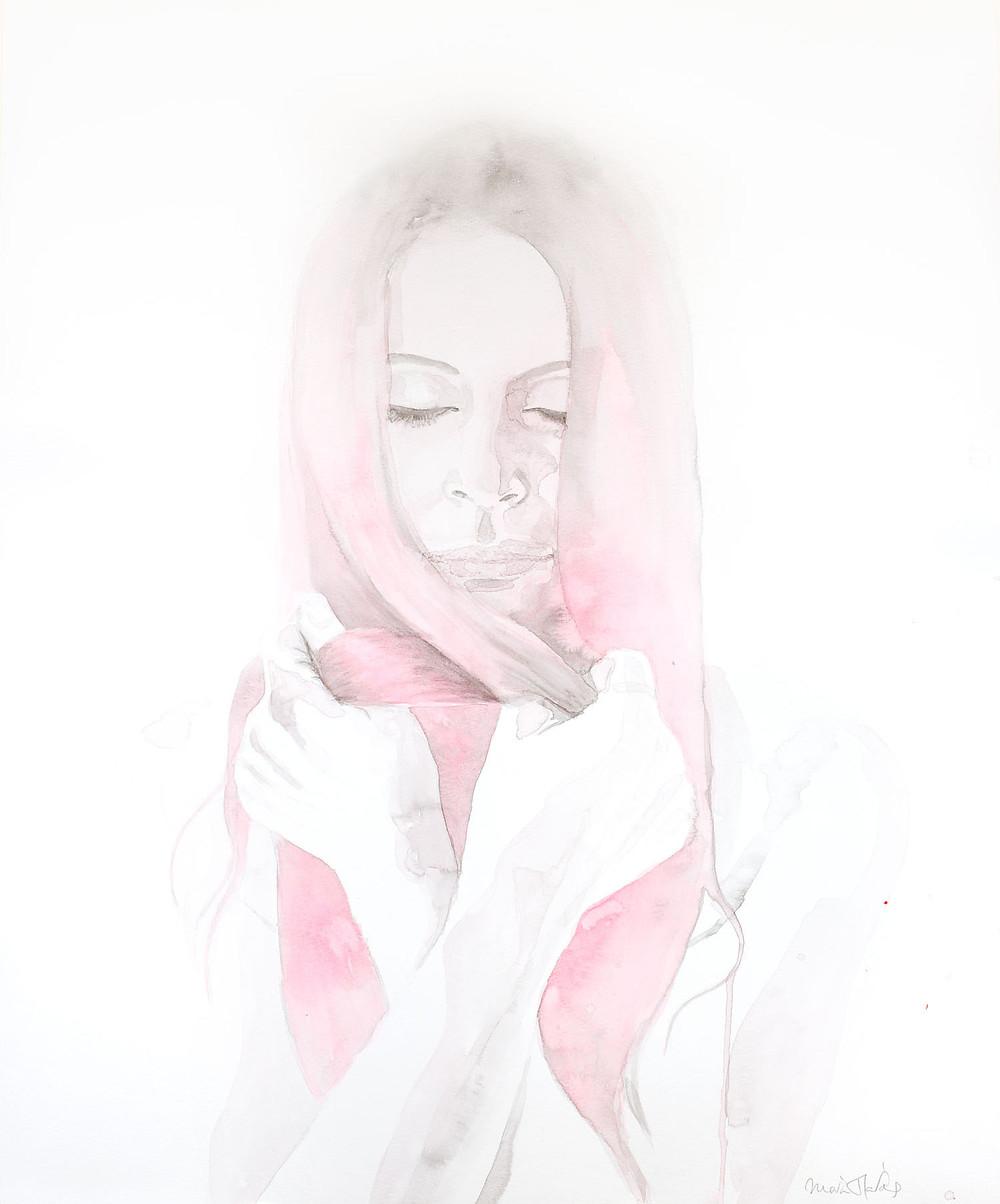 Original figurative watercolour painting by artist Maria Harding