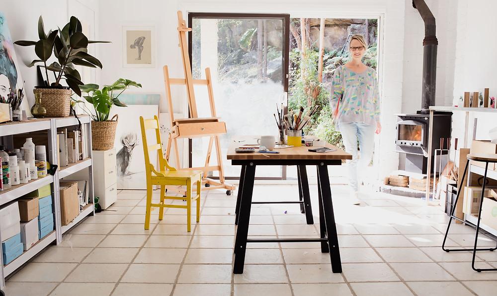 Maria Harding in her artist studio
