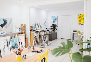 Maria Harding's artist studio