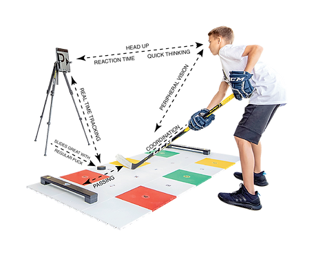 MY PUZZLE SYSTEMS - Professional Dryland Training Flooring Kit For Stickhandling