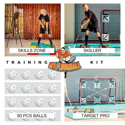 TRAINING KIT: TARGET PRO+SKILLER+SKILLS ZONE+20 BALLS
