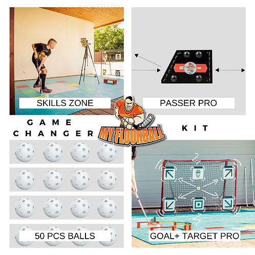 GAME CHANGER KIT: SKILLS ZONE 360+GOAL+TARGET PRO+50xBALLS+PASSER PRO