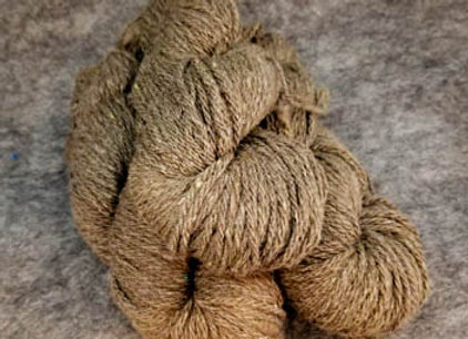 Shetland Sparkle Blend -Fawn with Green-