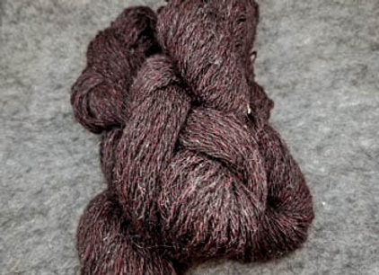 Shetland Sparkle Blend -Deep Brown with Red-