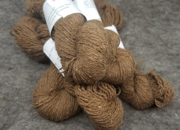 Discount Alpaca 100% - Light Brown, 2 ply, Over-twist -