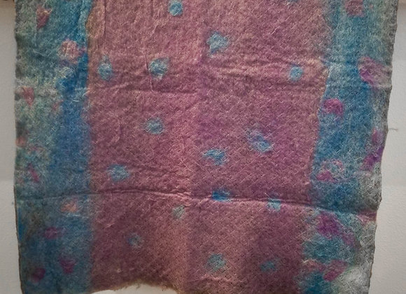 Shetland Felt -Blue/Magenta Polka Dots-