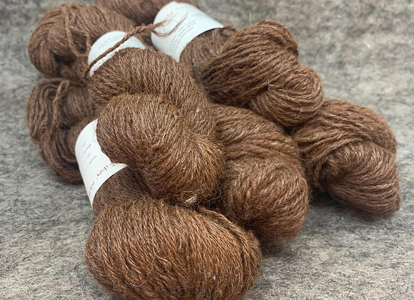 "100% Alpaca ""Dark Brown"" 3ply Blend"