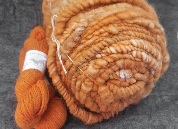 Alpaca Rug Cord -Sunset Orange-