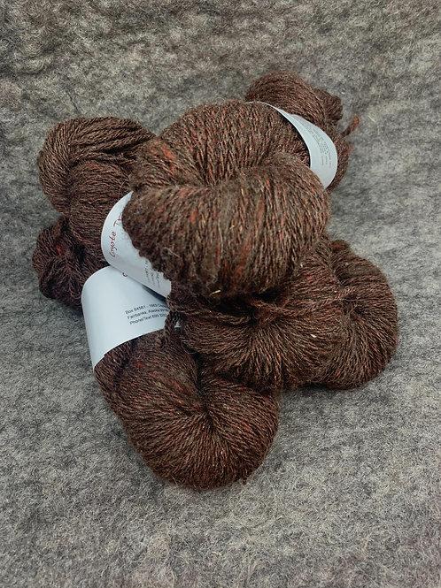 Dark Brown & Red Shetland Sparkle Blend