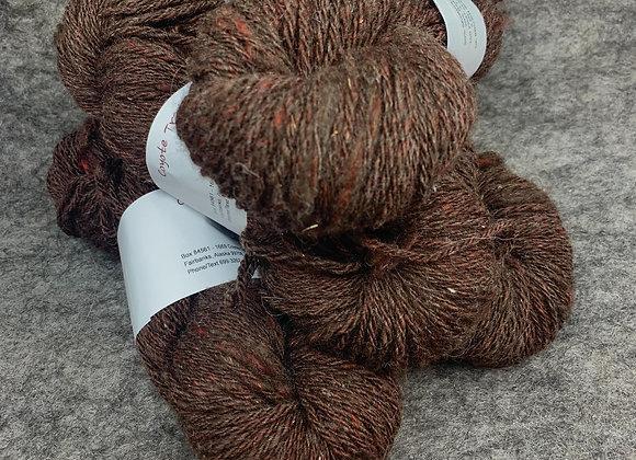 Shetland Sparkle Blend -Dark Brown with Red-