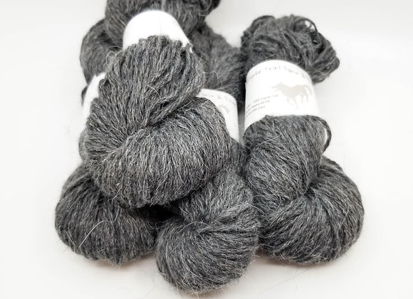 Llama/Merino Blend -Pepper Grey-