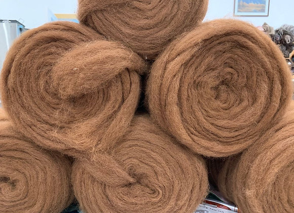 Alpaca Roving -Brown-