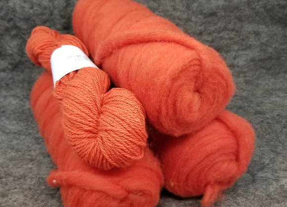 Chernofski Roving - Papaya Orange -