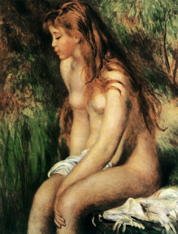 La baigneuse - Auguste Renoir