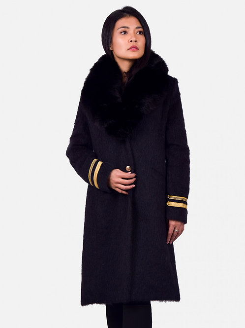 Anna coat fur black
