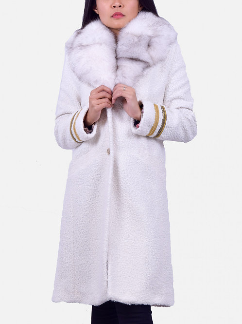 Anna Coat Fur White