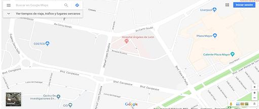 mapa de localizacion consultorio Claudia