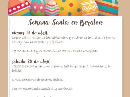 ¿ Vienes en Semana Santa a Beratón?