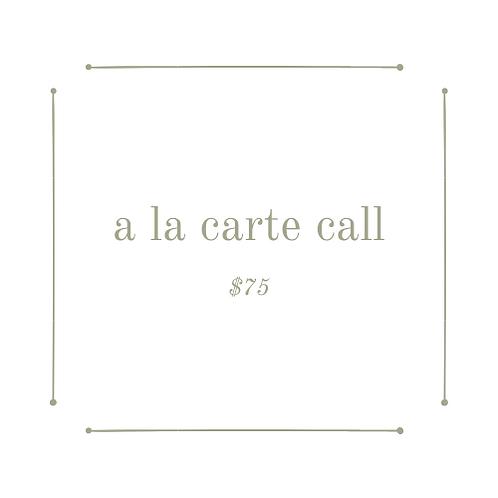 'a la carte' call