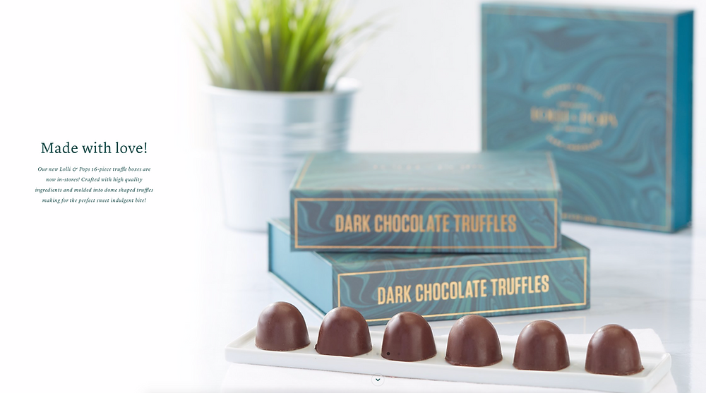 New Lolli and Pops truffle boxes made by Pearl Resourcing make a stunning gift to impress!