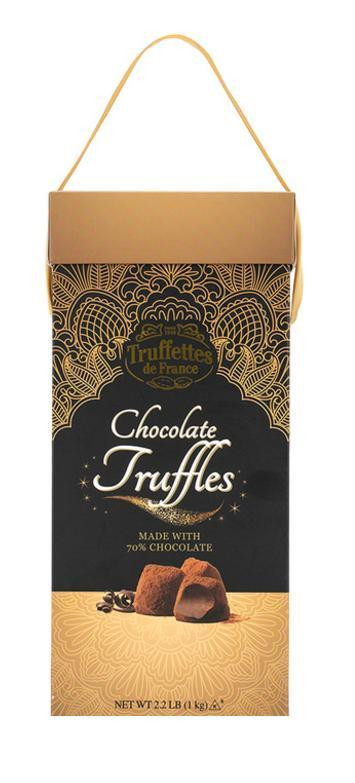 Now available in Costco Taiwan, rich imported chocolate truffles. Packaging by Pearl Resourcing.