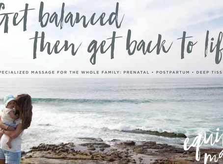 Equilibrio Pre-Natal Massage in San Diego - New Website and Branding