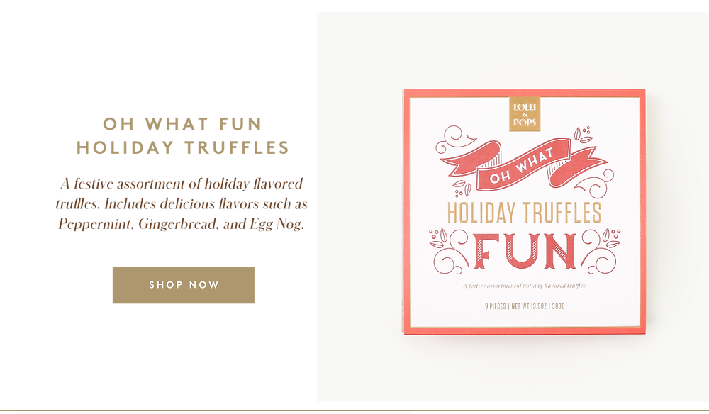 Lolli and Pops Holiday Truffles