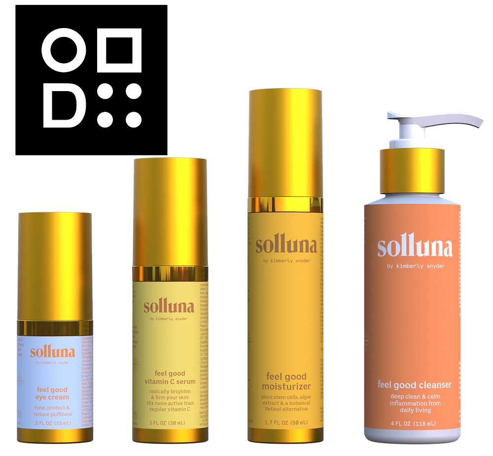 The Malibu sunset inspired packaging designed by Pearl Resourcing for Kimberly Snyder of Solluna.