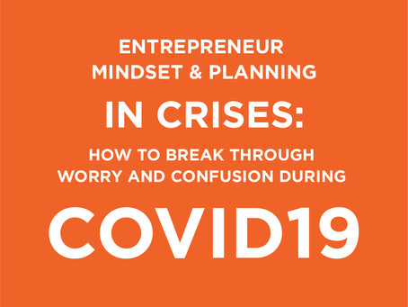 How To Break Through Worry and Confusion During COVID19 - Entrepreneur Mindset & Planning in Crises