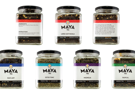 MAYA TEA STRUCTURAL PACKAGING RELASE (GLASS + RESEALABLE POUCH)