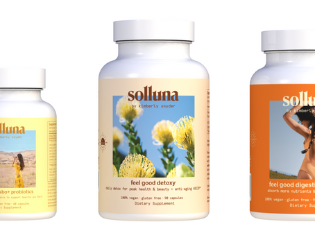 3D Mockups of Solluna Feel Good Supplements Show Bold Colors & Unique Branded Photography