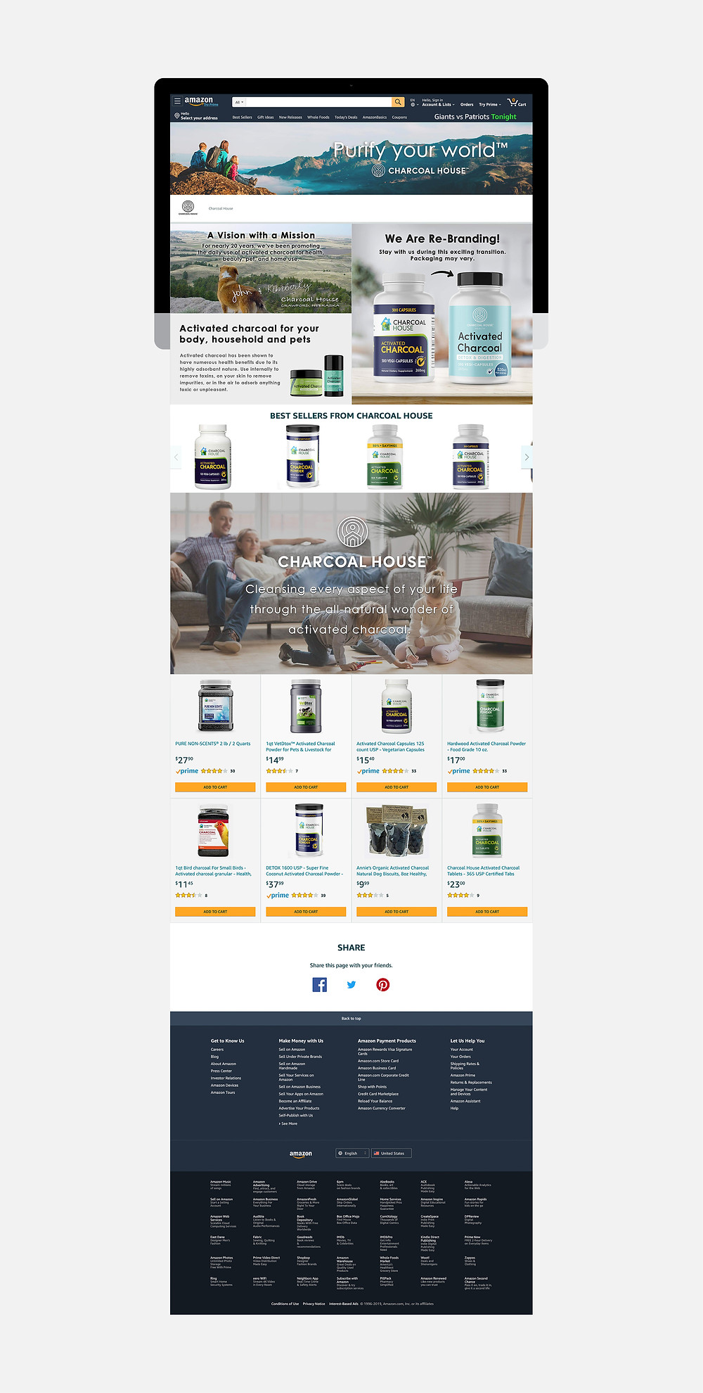 Pearl Resourcing has designed and launched the new Charcoal House Amazon store.