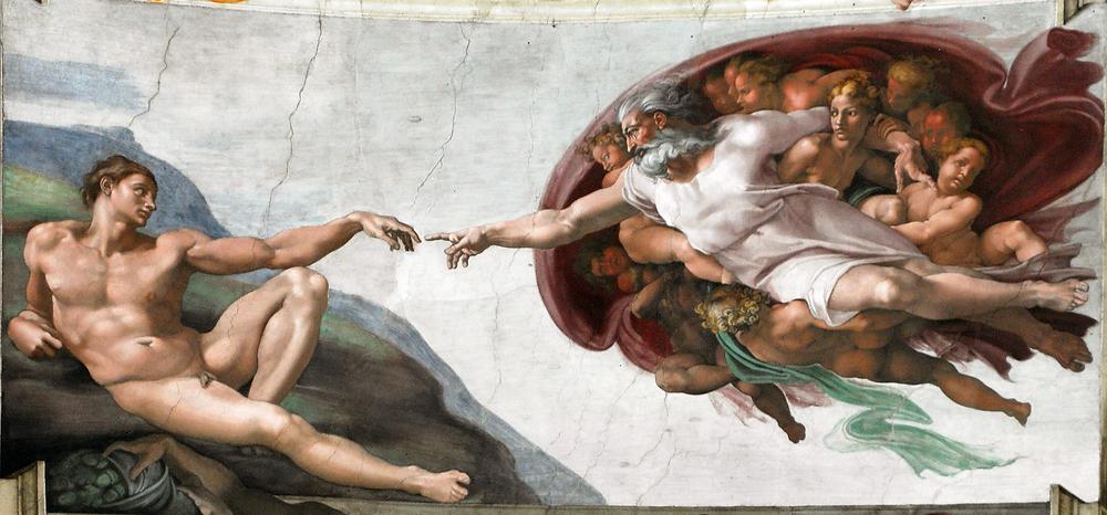 Gzm Art michelangelo-insanın yaradılışı tablosu