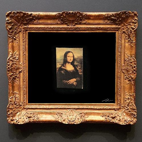 Mona Lisa Deri Broş