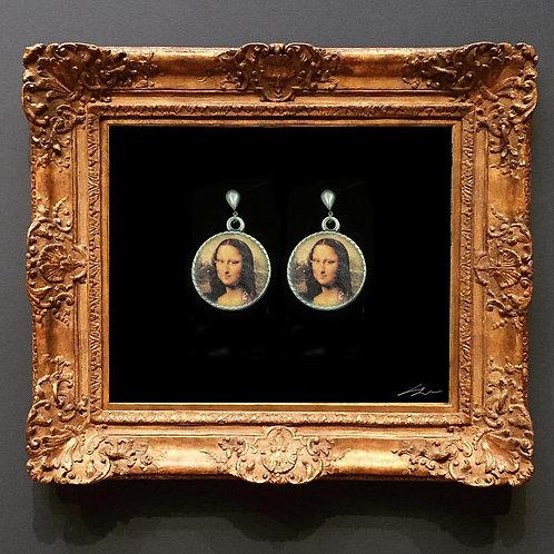 Mona Lisa Gümüş Küpe