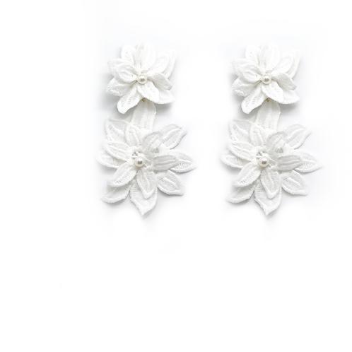 Dantel Çiçek küpe