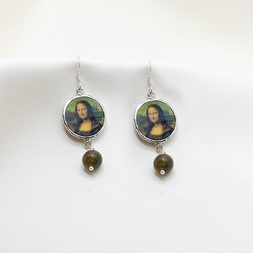 Mona Lisa Gümüş ve Turmalin Küpe