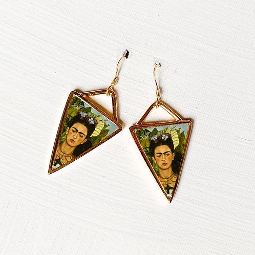Frida kahlo Gümüş Küpe